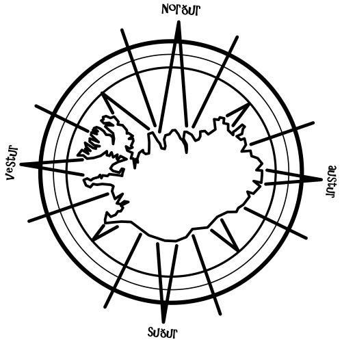 Island Kompass 0PD15 - Frauen Premium Hoodie