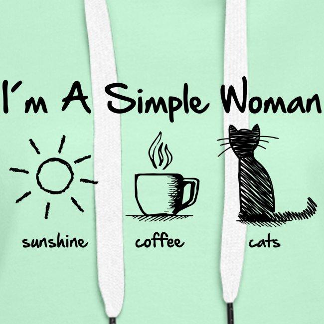 Vorschau: simple woman cats - Frauen Premium Hoodie