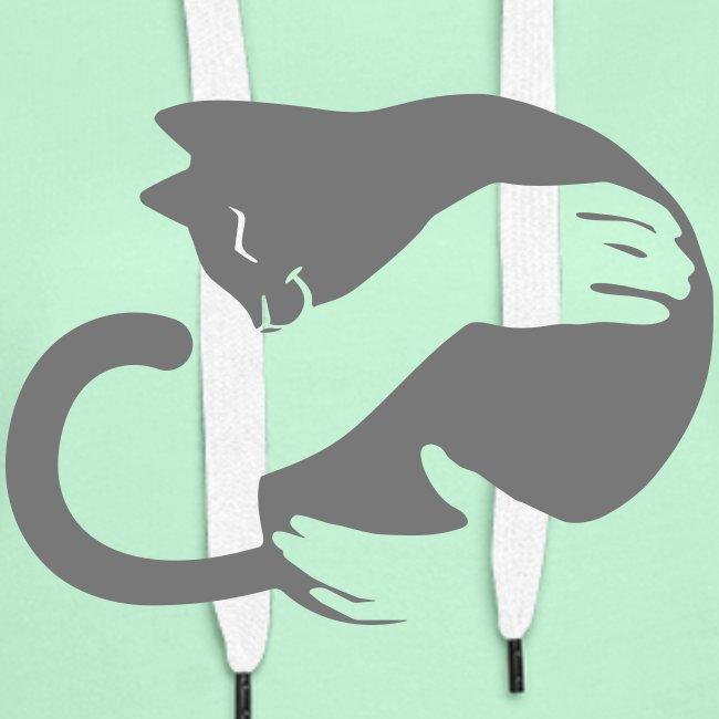 Vorschau: cat hug - Frauen Premium Hoodie