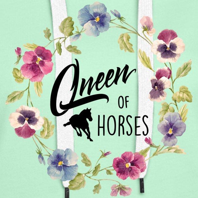 Vorschau: queen of horses - Frauen Premium Hoodie