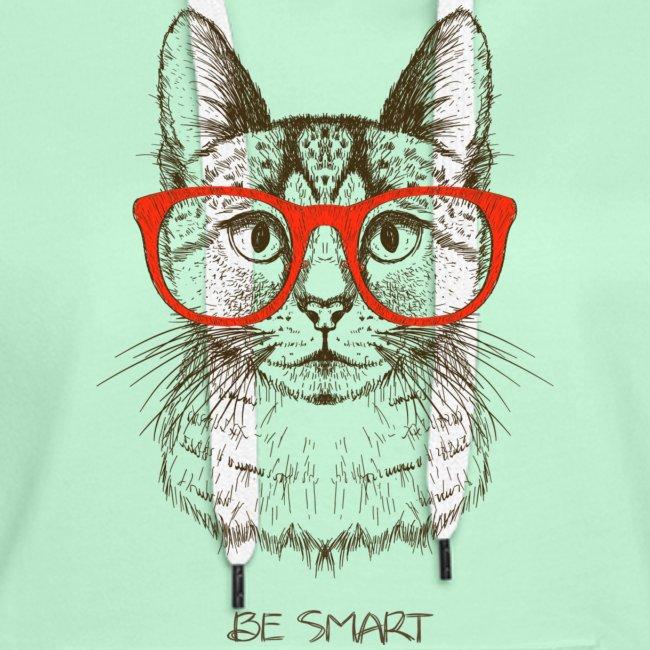 Vorschau: Cat Hipster - Frauen Premium Hoodie