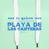 Te quiero Playa de Las Canteras - Sudadera con capucha premium para mujer