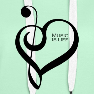 Music is life ! - Sweat-shirt à capuche Premium pour femmes