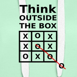 THINK OUTSIDE THE BOX - Women's Premium Hoodie