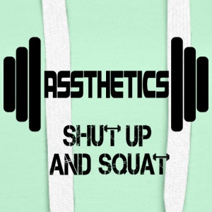 Assthetics - Shut up and Squat - Frauen Premium Hoodie