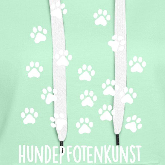 Vorschau: Hundepfotenkunst - Frauen Premium Hoodie