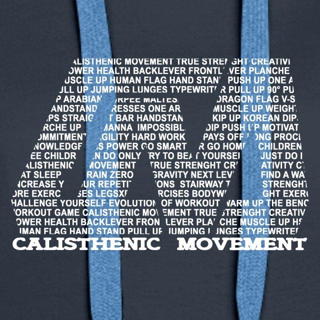 CM Logo aus Text weiß