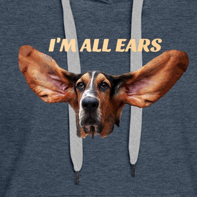 Mon basset est toutes les oreilles