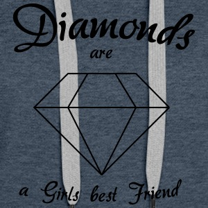 Diamonds are a Girls Best Friend - Women's Premium Hoodie