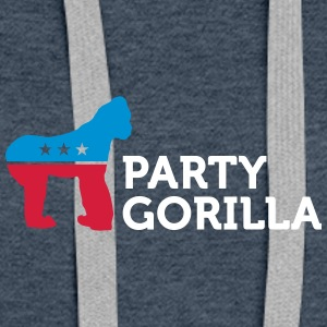 Political Party Animals: Gorilla - Women's Premium Hoodie
