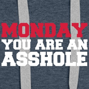 Monday you are an asshole - Women's Premium Hoodie