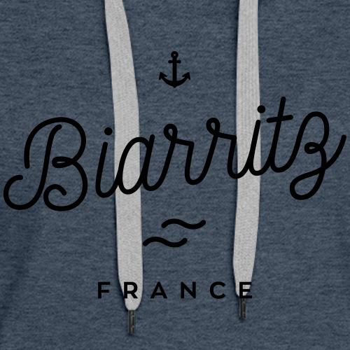Biarritz - France - Sweat-shirt à capuche Premium pour femmes