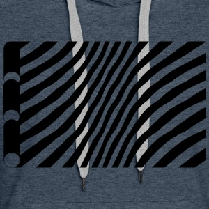Geometry / black-white / without background - Women's Premium Hoodie