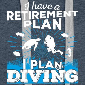 Retirement plan diving (light) - Frauen Premium Hoodie
