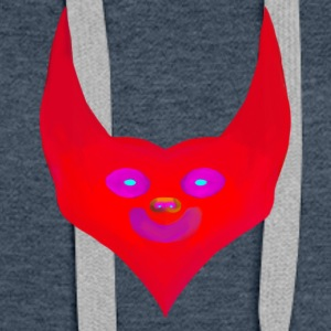 heart horns devil satan abstract - Women's Premium Hoodie
