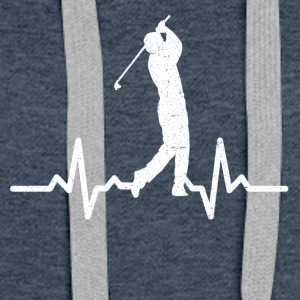 My heart beats for Golf - Women's Premium Hoodie