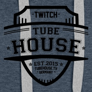 TubeHouse teamet College Merch 2017 Svart - Premium hettegenser for kvinner