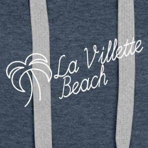 la villette beach white - Sweat-shirt à capuche Premium pour femmes
