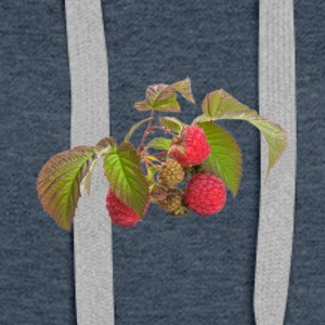 Raspberry fruit Organic Fruits - Women's Premium Hoodie