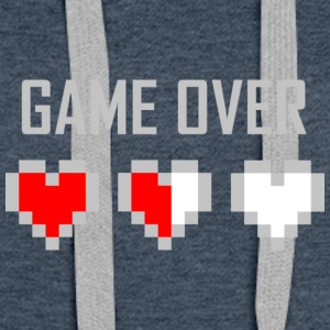 game_over_tshirt_vector_by_warumono1989-d7tn9e8 - Sweat-shirt à capuche Premium pour femmes