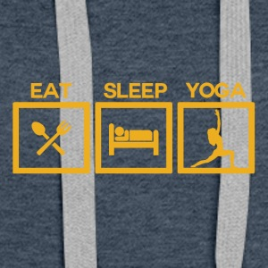 ! Eat Sleep Yoga - Cycle! - Women's Premium Hoodie