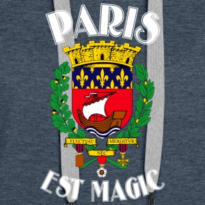 Paris Er Magic Blue - Premium hettegenser for kvinner