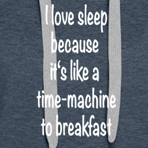 Timemachine breakfast - Frauen Premium Hoodie