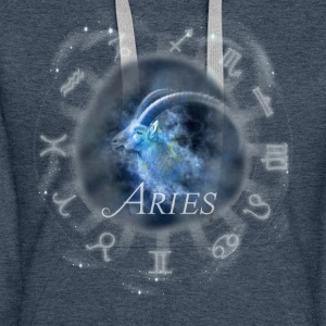 aries Capricorn zodiac sign horoscope image - Women's Premium Hoodie