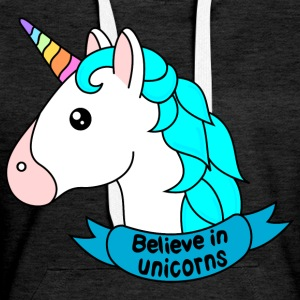 Believe in unicorns - Women's Premium Hoodie