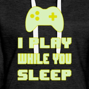 Gamers do not Sleep - Women's Premium Hoodie