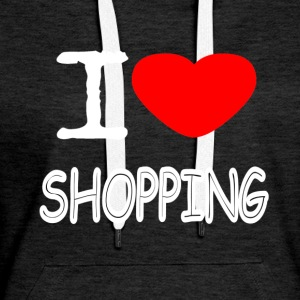 I LOVE SHOPPING - Women's Premium Hoodie
