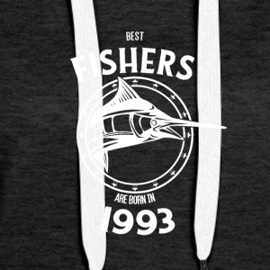 Present for fishers born in 1993 - Women's Premium Hoodie