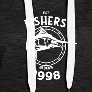 Present for fishers born in 1998 - Women's Premium Hoodie