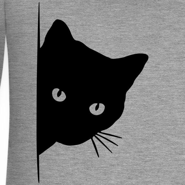 Vorschau: peeking cat - Frauen Premium Kapuzenjacke