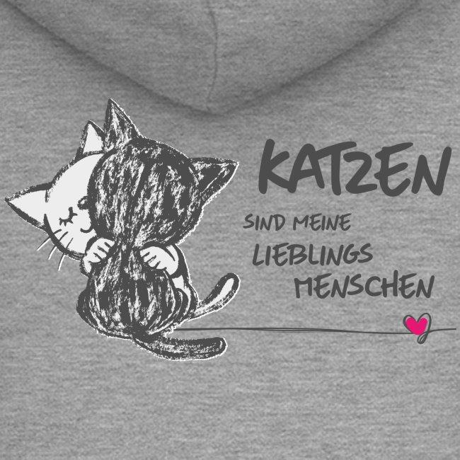 Vorschau: Katzen Lieblingsmenschen - Frauen Premium Kapuzenjacke