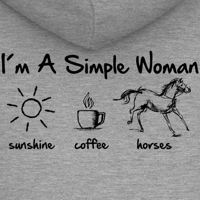 Vorschau: simple woman horse - Frauen Premium Kapuzenjacke