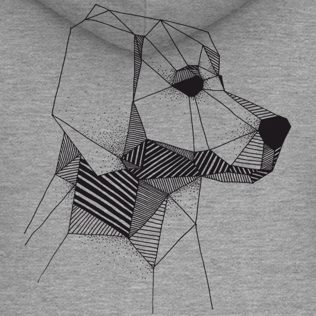 Golden Retriever Geometrisch Zwart