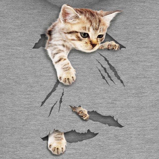 Vorschau: cat tear - Frauen Premium Kapuzenjacke
