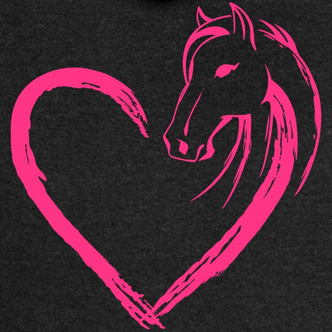 Vorschau: Pferde Herz - Frauen Premium Kapuzenjacke