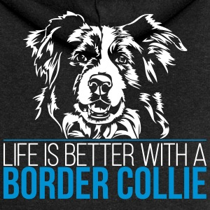 Life is better with a BORDER COLLIE - Frauen Premium Kapuzenjacke