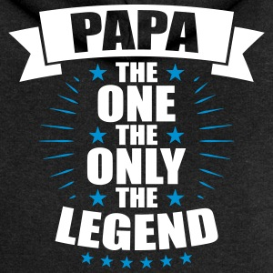 Papa The One The Only The Legend fathers day - Women's Premium Hooded Jacket