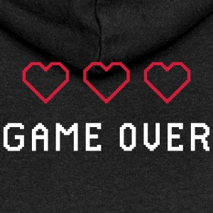 RETRO GAME OVER - Felpa con zip premium da donna