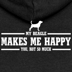 BEAGLE makes me happy - Women's Premium Hooded Jacket