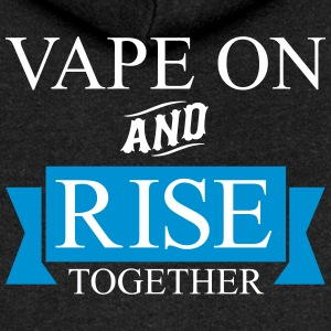 Vape On and RISE Together - Women's Premium Hooded Jacket