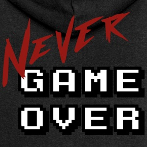 Big_Never_game_Over_white - Women's Premium Hooded Jacket