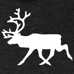 warning_reindeer_roadsign_black_white_line_animal_ - Premium luvjacka dam