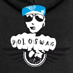 swag yolo fist cool ganster rapping street tatoo gra - Women's Premium Hooded Jacket