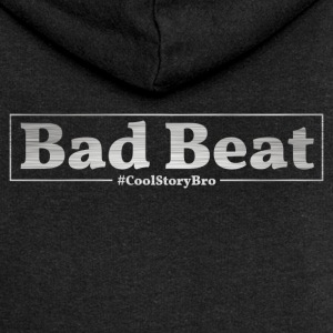 Bad Beat Poker - Felpa con zip premium da donna