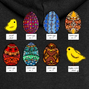 Happy Easter beautiful colorful Easter eggs Easter chicks - Women's Premium Hooded Jacket