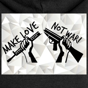 MAKE LOVE - NOT WAR! (Peace,Freedom,Anti War) - Frauen Premium Kapuzenjacke